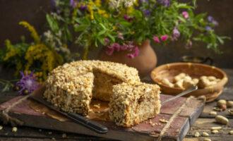 Арахисовый торт с ореховым кремом и шоколадной помадкой – пошаговый рецепт с фото
