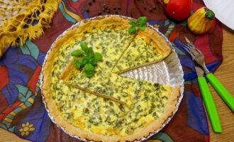 Пряный киш с базиликом и кремовой начинкой – пошаговый рецепт с фото